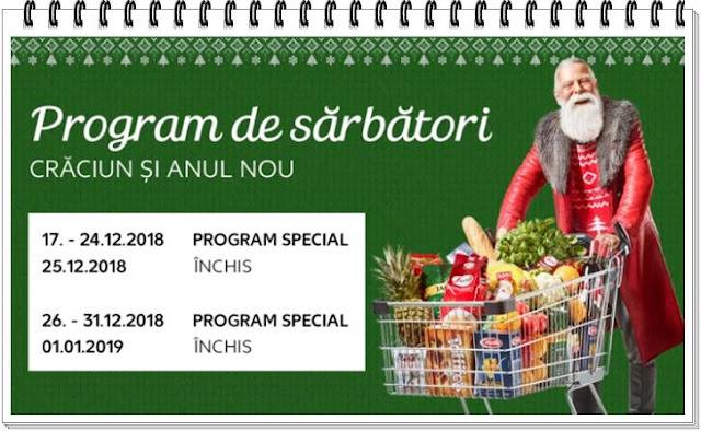 kaufland orar program 24, 26 27 31 decembrie 2018 2 3 ianuarie 2019