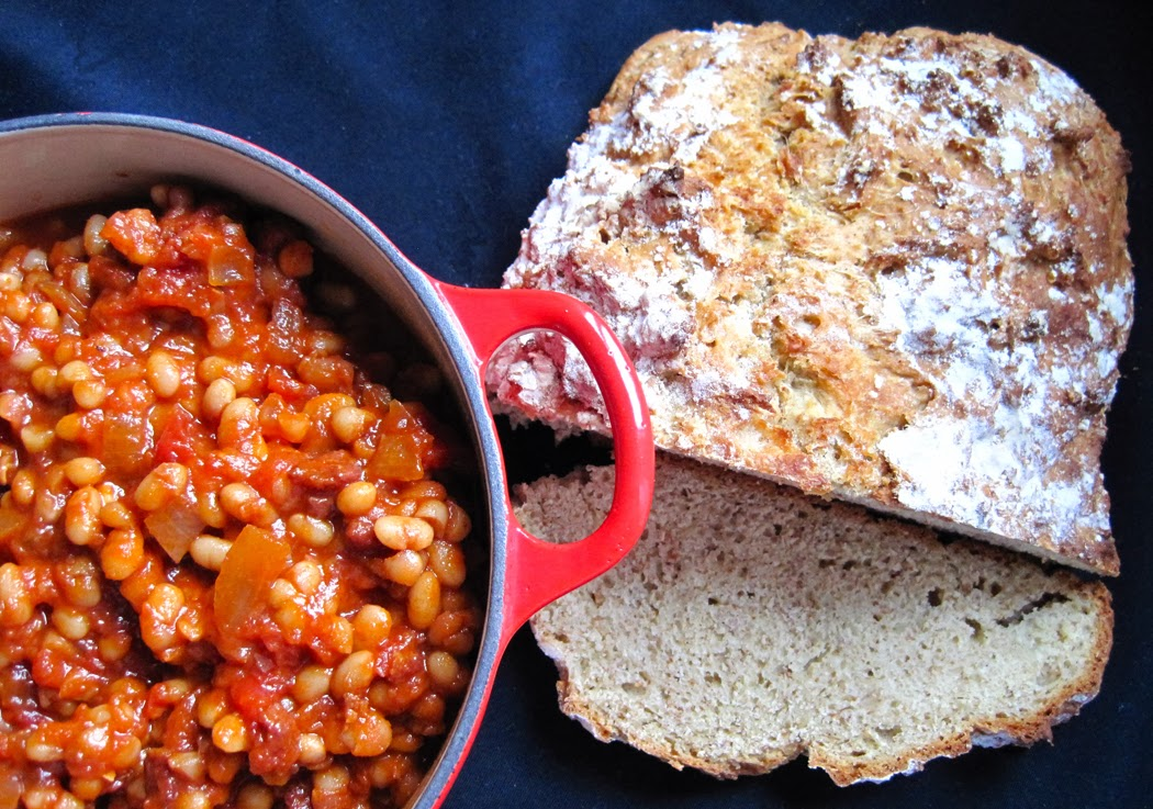 Proper baked beans on soda bread toast tom kerridge a glug of oil if you pop over to the bbc website you can find more recipes by tom kerridge and other chefs forumfinder Choice Image
