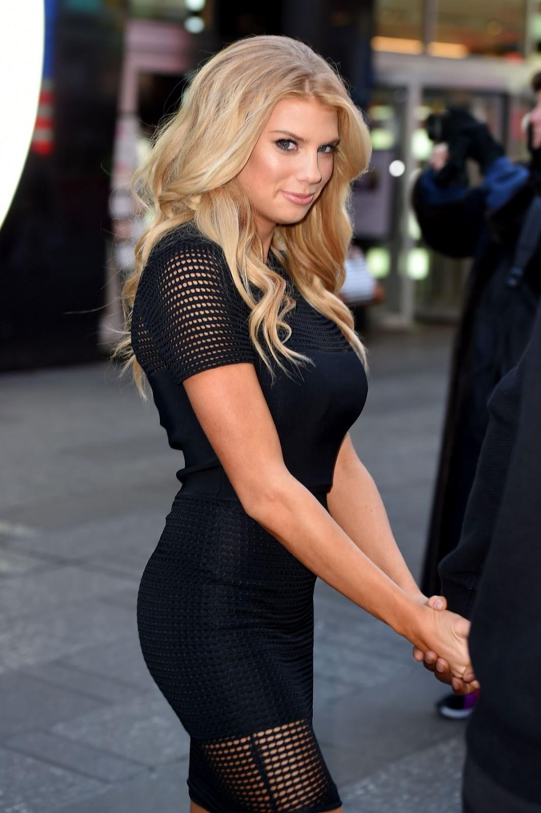 Full HQ Photos of Charlotte Mckinney in Black dress at Good Morning America