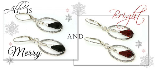 Merry and Bright Swarovski Crystal Drop Hoop Earrings (EC292)