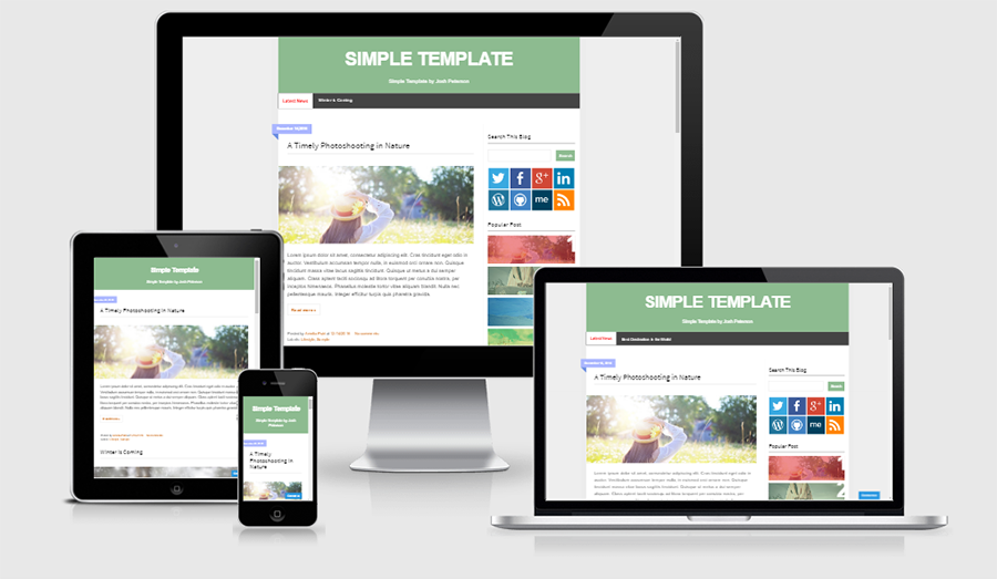 Simple SEO Responsive Blogger Template | free premium blogger ...