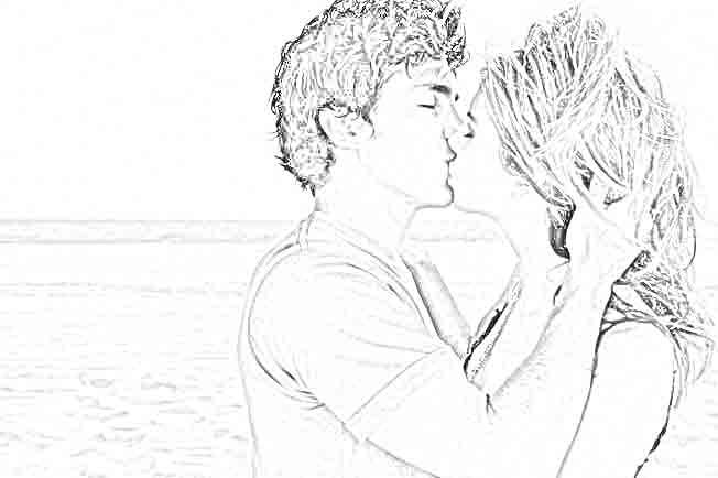 cara pria mencium