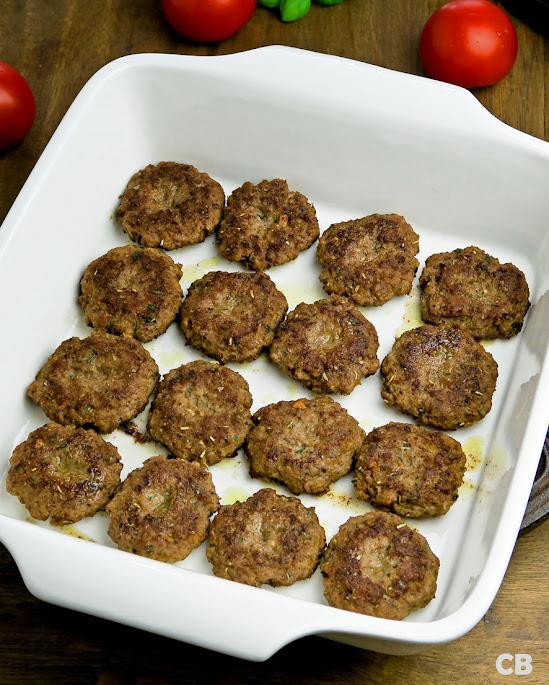 Mini-hamburgertjes met Italiaanse kruiden