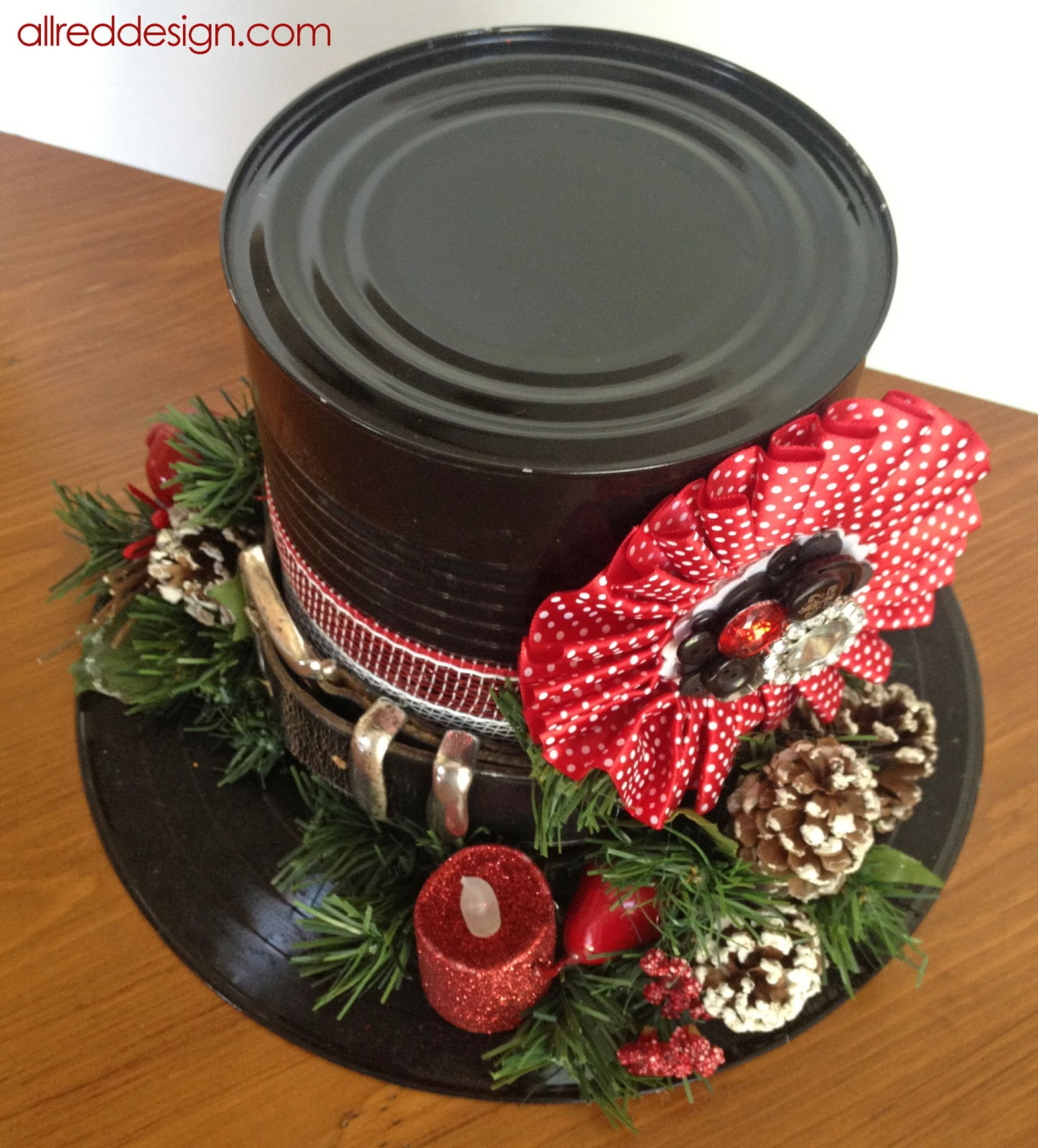 Allred Design Blog Snowman Holiday Hat Tutorial With