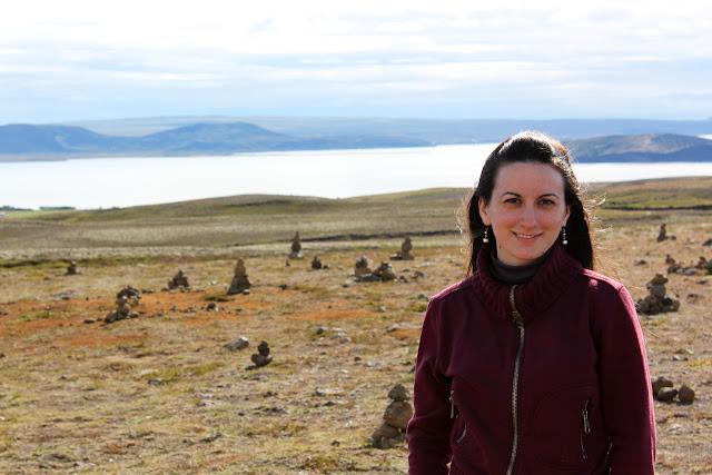 Lena en el mirador del lago Þingvallavatn