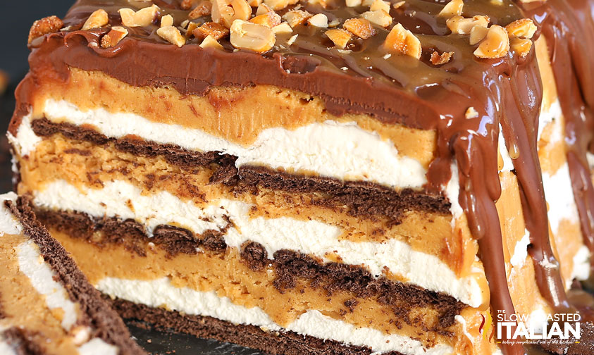 Cake In A Jar Recipe No Bake: Peanut Butter Caramel No-Bake Icebox Cake