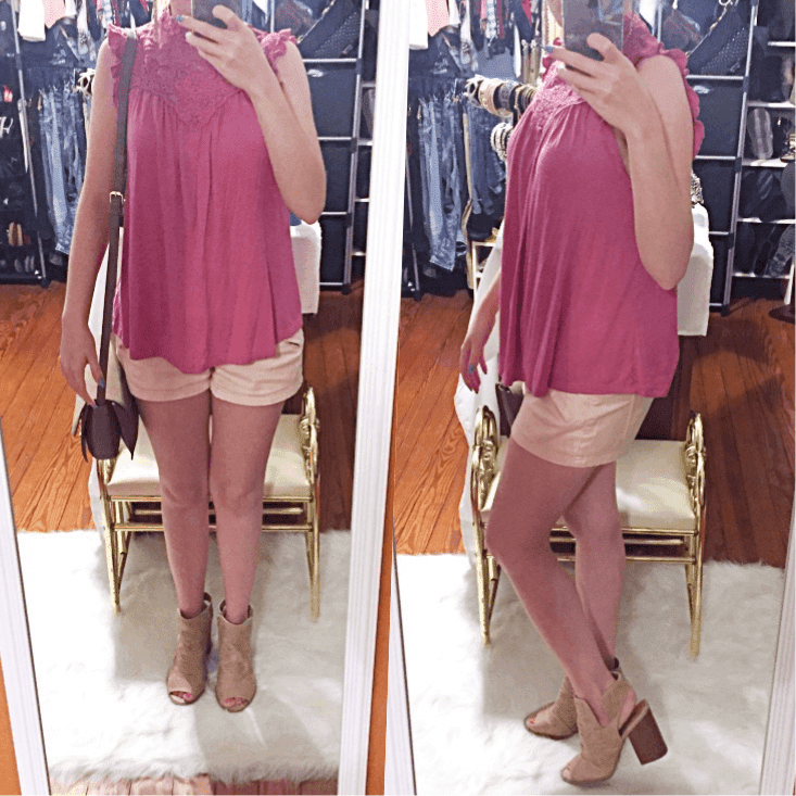 high neck crochet top outfit of the day summer 2018