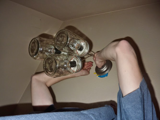 Making Light Fixtures Out of Mason Jars