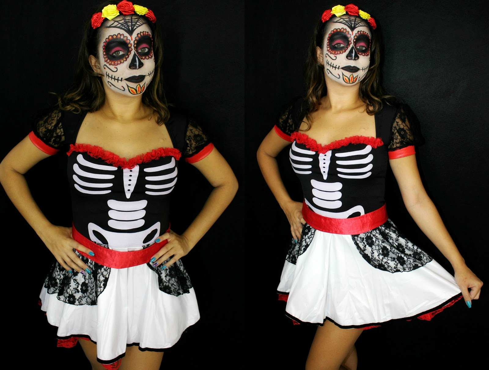 Especial De Halloween Caveira Mexicana Karen Lima