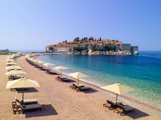 Beach Sveti Stefan, Montenegro, Aman