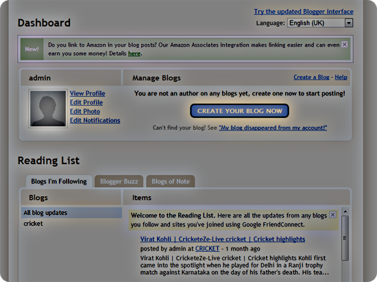 Create your blog step3