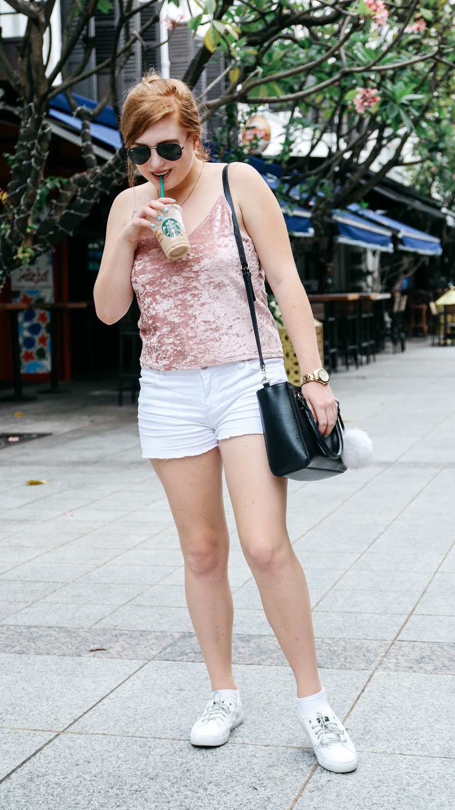 Blush Pink Velvet Top for Valentine's Day | GlobalFashionGal Blog by Brianna Degaston