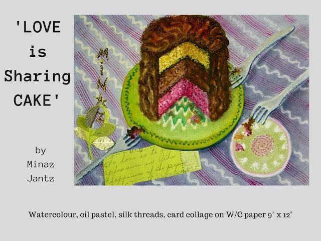 'Love is Sharing Cake' by Minaz Jantz