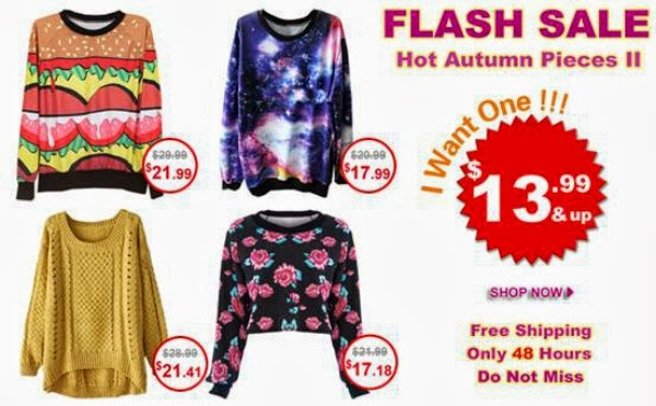 ROMWE Bestseller Flash Sale - Hot Autumn Pieces - October 2013