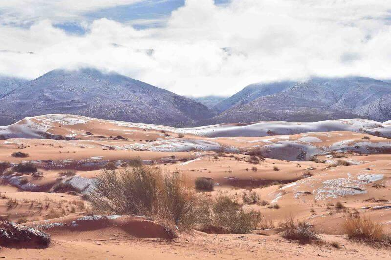 Astonishing Images Of Snow In Sahara