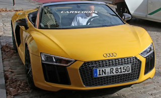 Audi R8 Spider Spotted without Camouflage