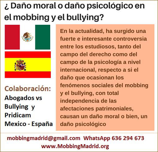 MobbingMadrid Daño moral o daño psicológico en el mobbing y el bullying