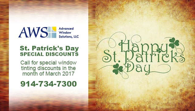 St. Patrick's Day Window Tinting Discounts New York