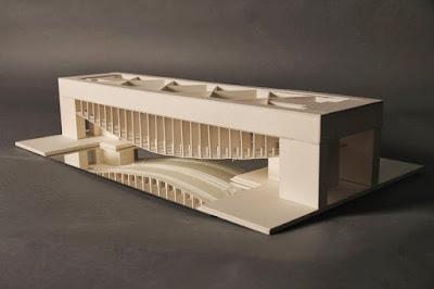 Modellino del Palazzo dei Congressi di Louis Kahn