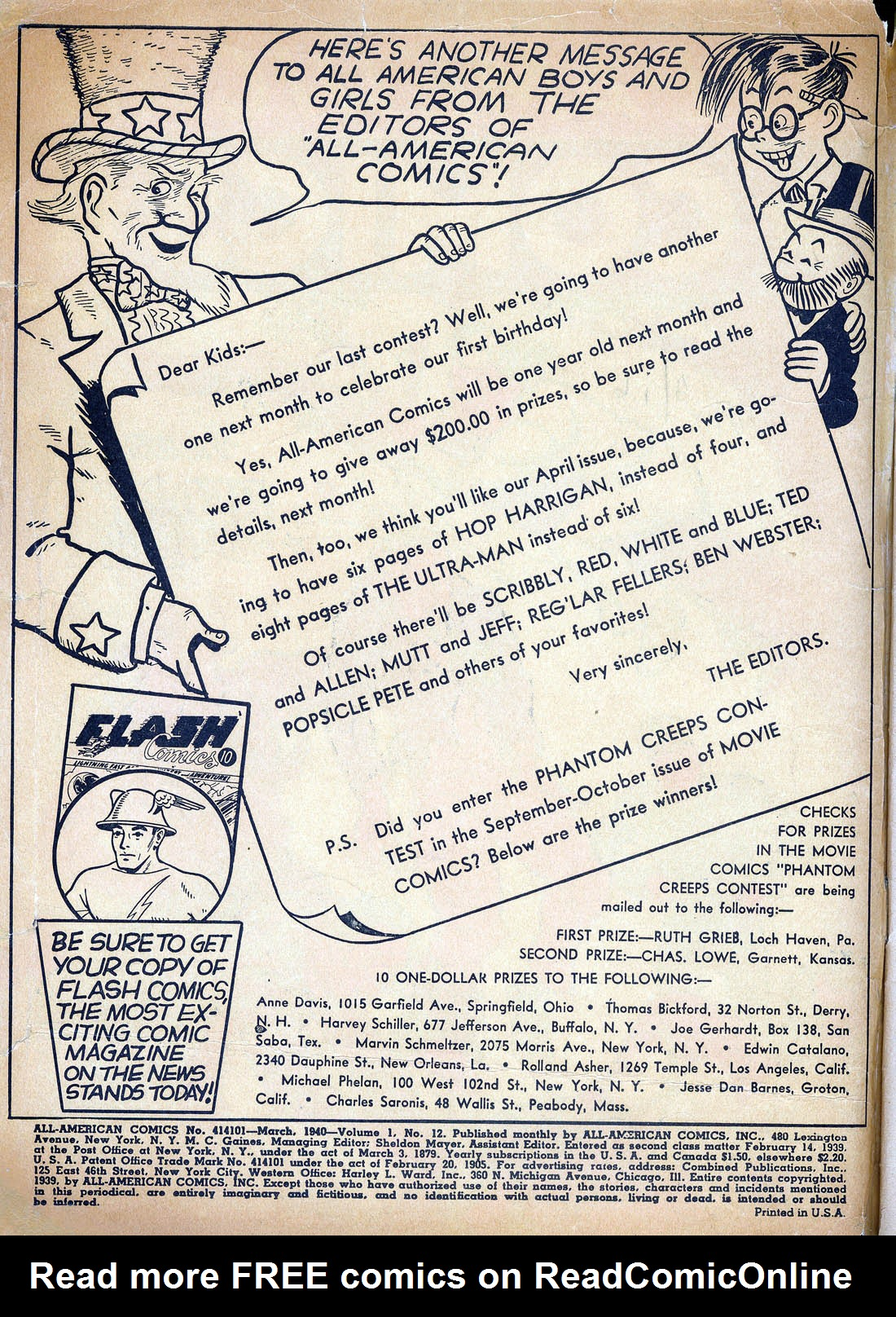 Read online All-American Comics (1939) comic -  Issue #12 - 2