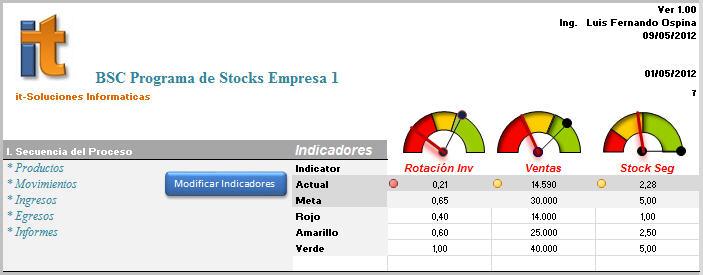 Soluciones en Excel Stocks programa de inventarios - formato inventario en excel