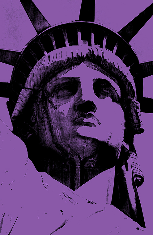 lady liberty illustration statue of liberty vector new york city por art graphic design art photoshop inkscape free estatua de la libertad nueva dibujo drawing estilo andy warhol style colors color violeta violet black