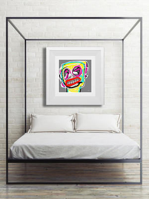 art print, abstract art print, portrait art print, buy art print online, art print gallery, take me to your leader, Sam Freek,