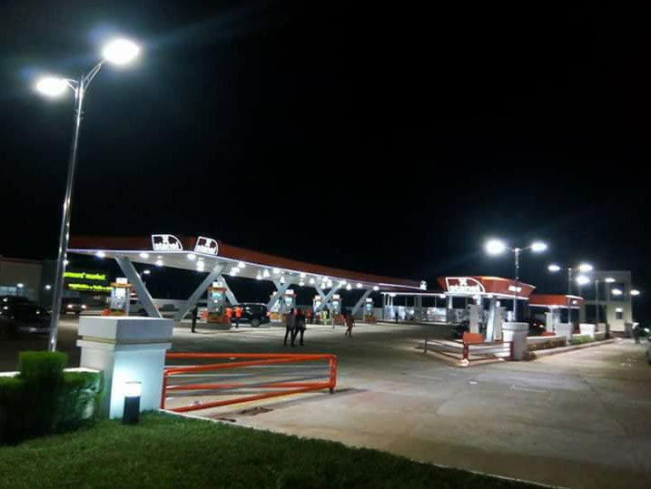 Obiano tours ultra-modern filling station in Awka, Anambra