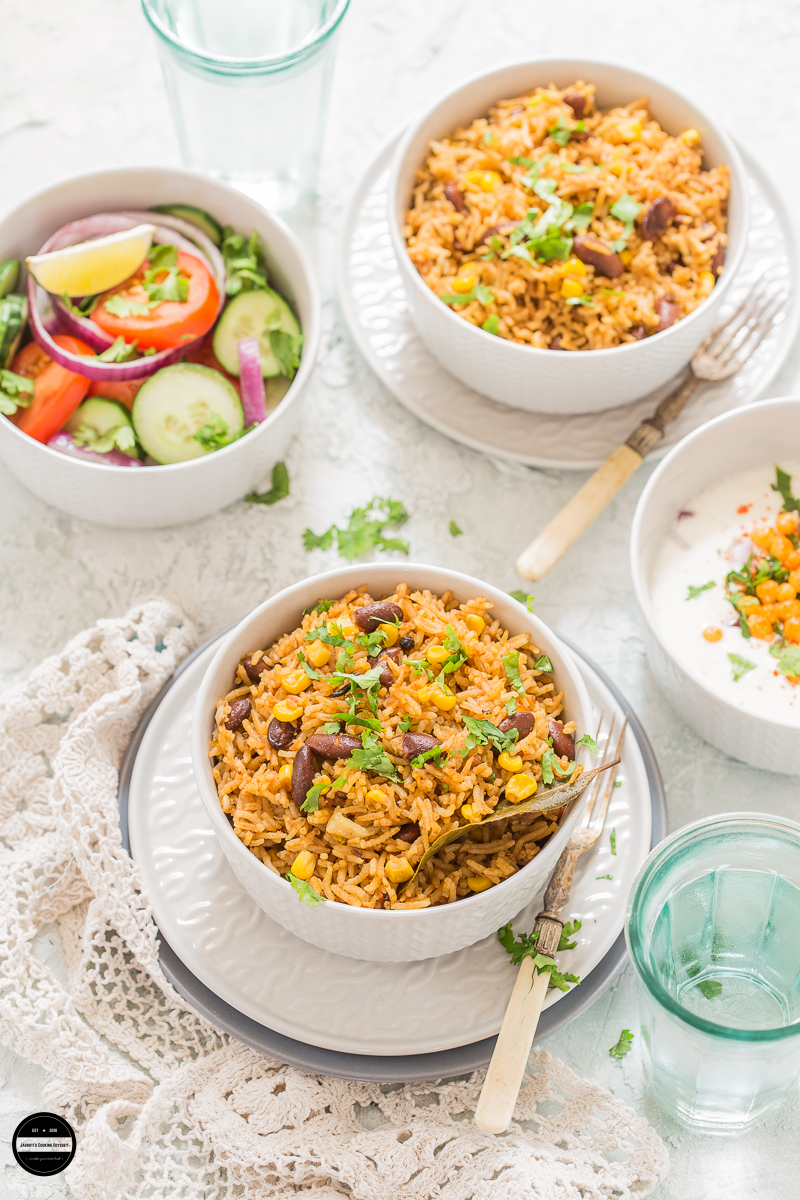 Corn and Rajma Pulao Rice is a one-pot flavourful and vegan dish that can be served with any type of raita, salad and roasted papad for a well-balanced meal. It's a clear winner for those who love spicy and delicious rice dishes.
