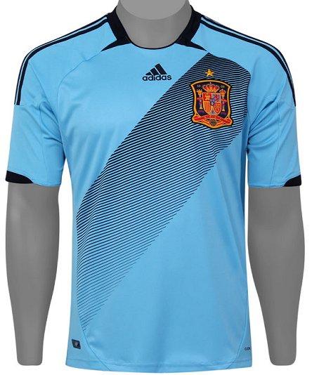 6d1a884074 A Adidas apresentou as novas camisas reservas da Espanha e Rússia para a  disputa da Euro 2012. Já para a Grécia