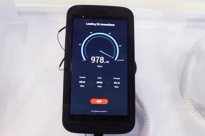 "ZTE presenta teléfono inteligente de ""5úper generación"" avanzado con velocidades de descarga que alcanzan hasta 1 gigabit por segundo"