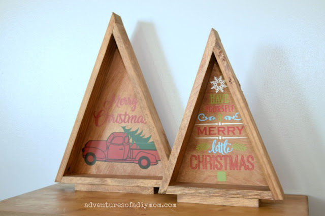 wooden christmas trees - diy