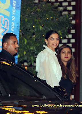 Bollywood Star Deepika Padukone at  party with the Mumbai Indians 06