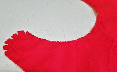 Trim the corners, clip the valleys, and notch the mountains when sewing a Superman cape