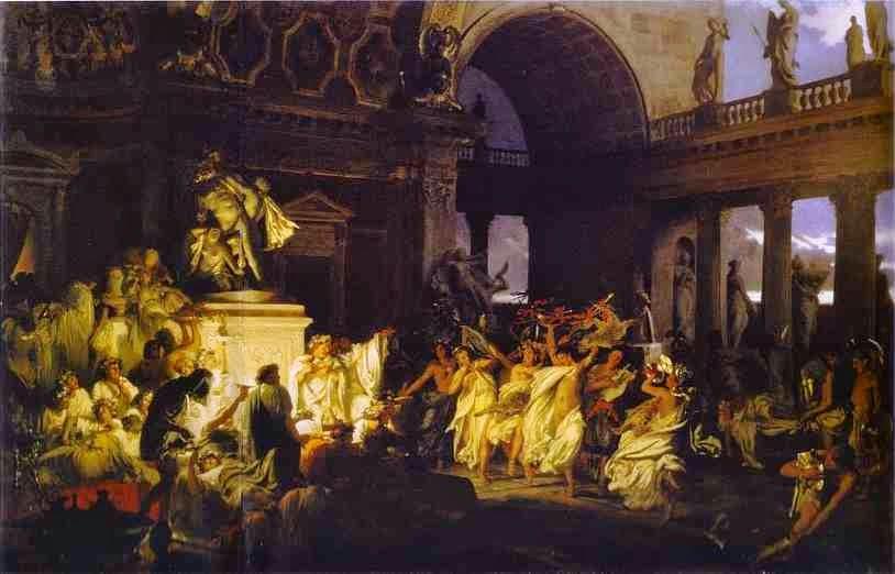 Orgias Romana no Tempo do Cesares - Henryk Siemiradzki e suas pinturas ~ Polonês
