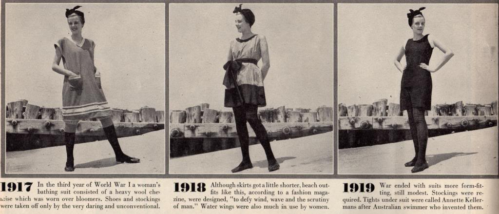 Historical Timeline Of Vintage Women S Bathing Suits From 1915 To