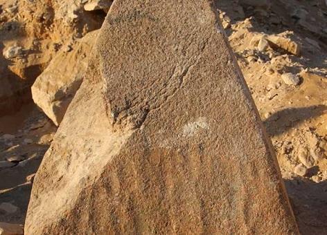 Une mii-pyramide découverte à Saqqarah en Egypte