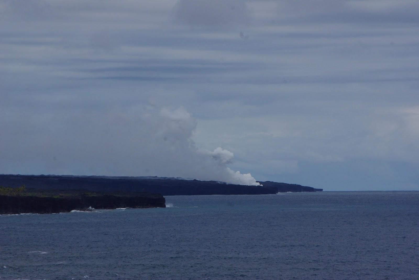 bigisland 溶岩流のオーシャンエントリー ocean entry of lava flow