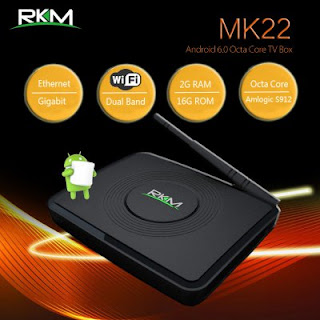 Rikomagic RKM MK22 Android TV Box Amlogic S912 Octa Núcleo & Android 6.0