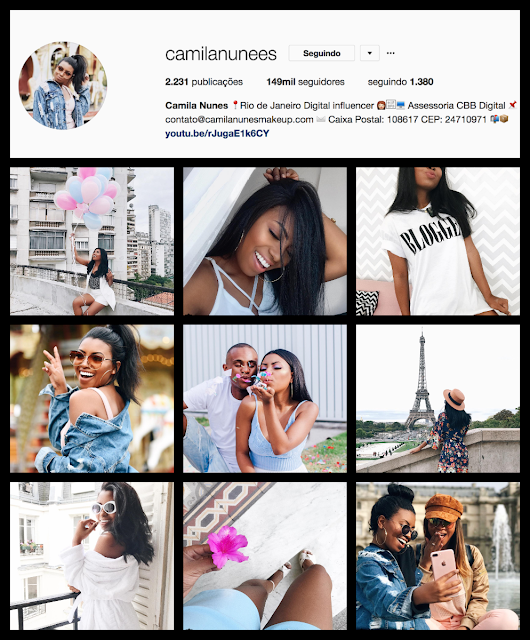 Montagem instagram tumblr girl: Camila Nunes