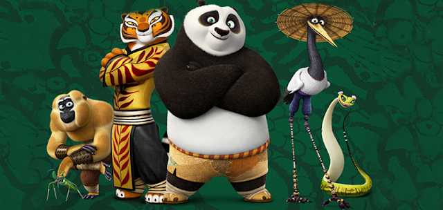 The Furious Five în animaţia Kung Fu Panda 3