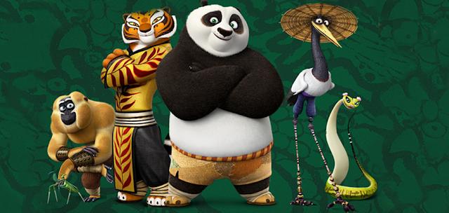 The Furious Five în animaţia Kung Fu Panda 3