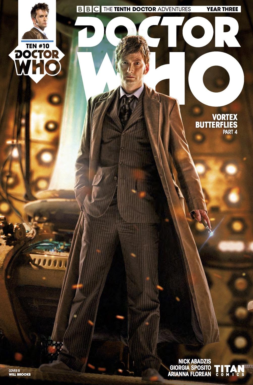 DOCTOR WHO 1 tenth 10th Dr DAVID TENNANT SDCC PX variant TITAN COMIC 2014 BBC TV