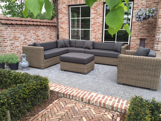 Loungeset Hoekbank Met Stoel.Arbrini Design Tuinmeubelen