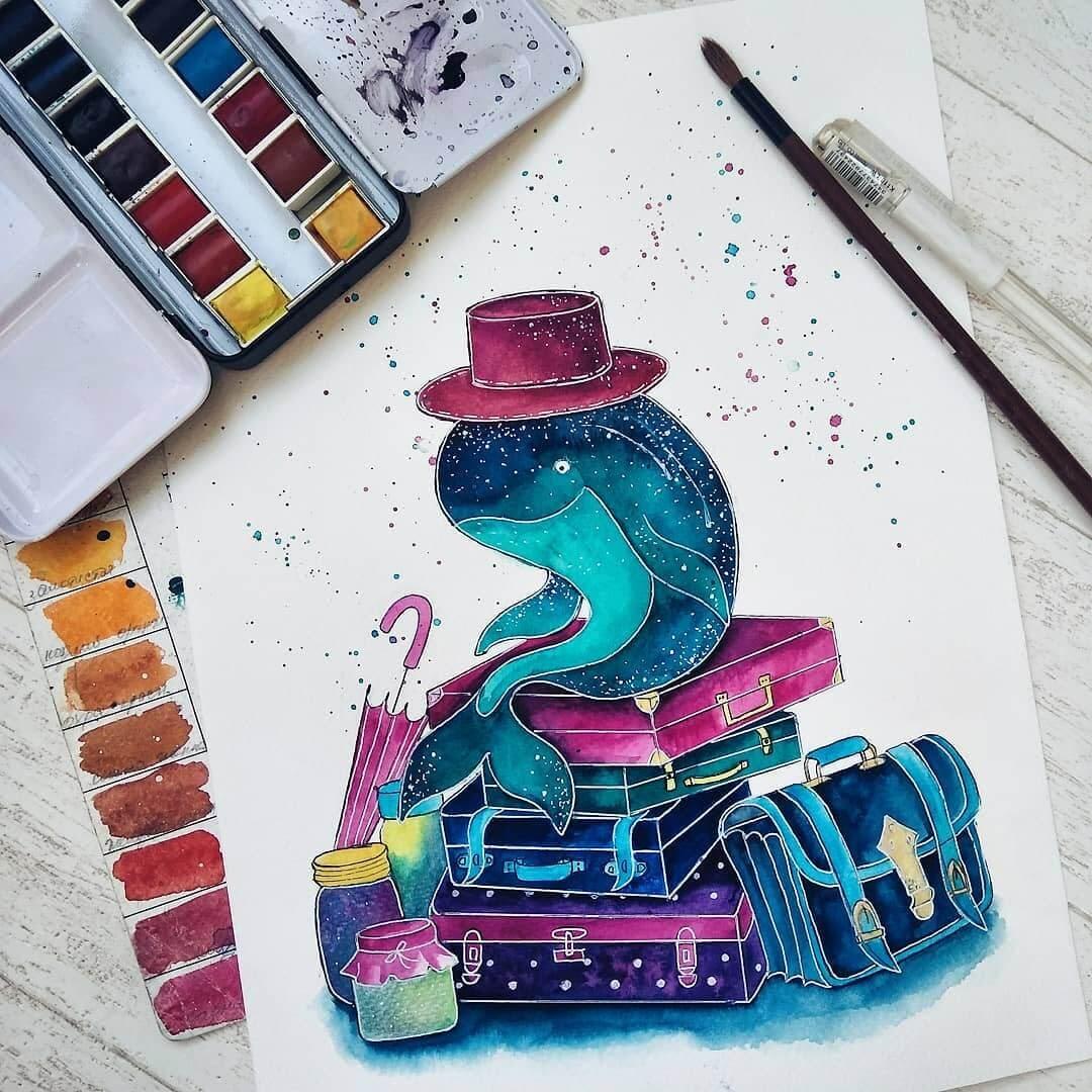 03-Travelling-Katya-Goncharova-9-Whale-Paintings-and-1-Giraffe-www-designstack-co