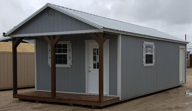 Portable Cabin Shell 14u0027x32u0027 With 4u0027 Porch