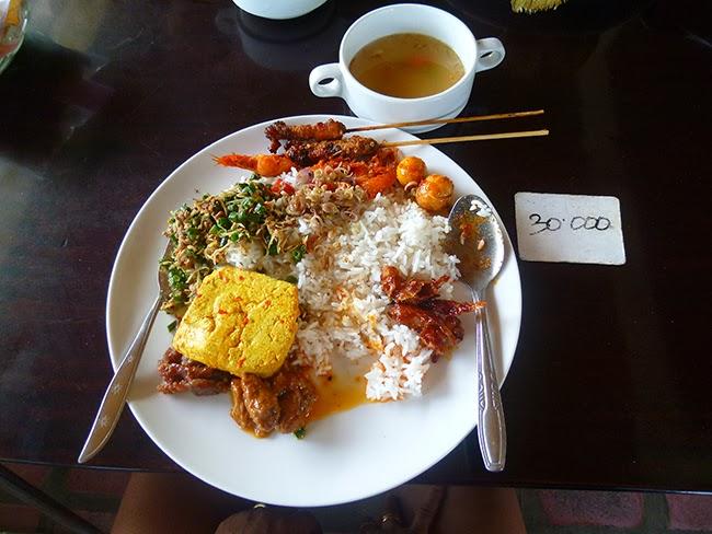 Nasi campur en Bali