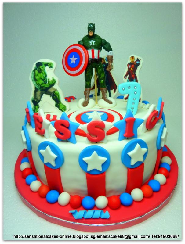 The Sensational Cakes Avengers Design cake Singapore Captain