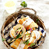 Tranci di baguette con petto di pollo e zucchine grigliate