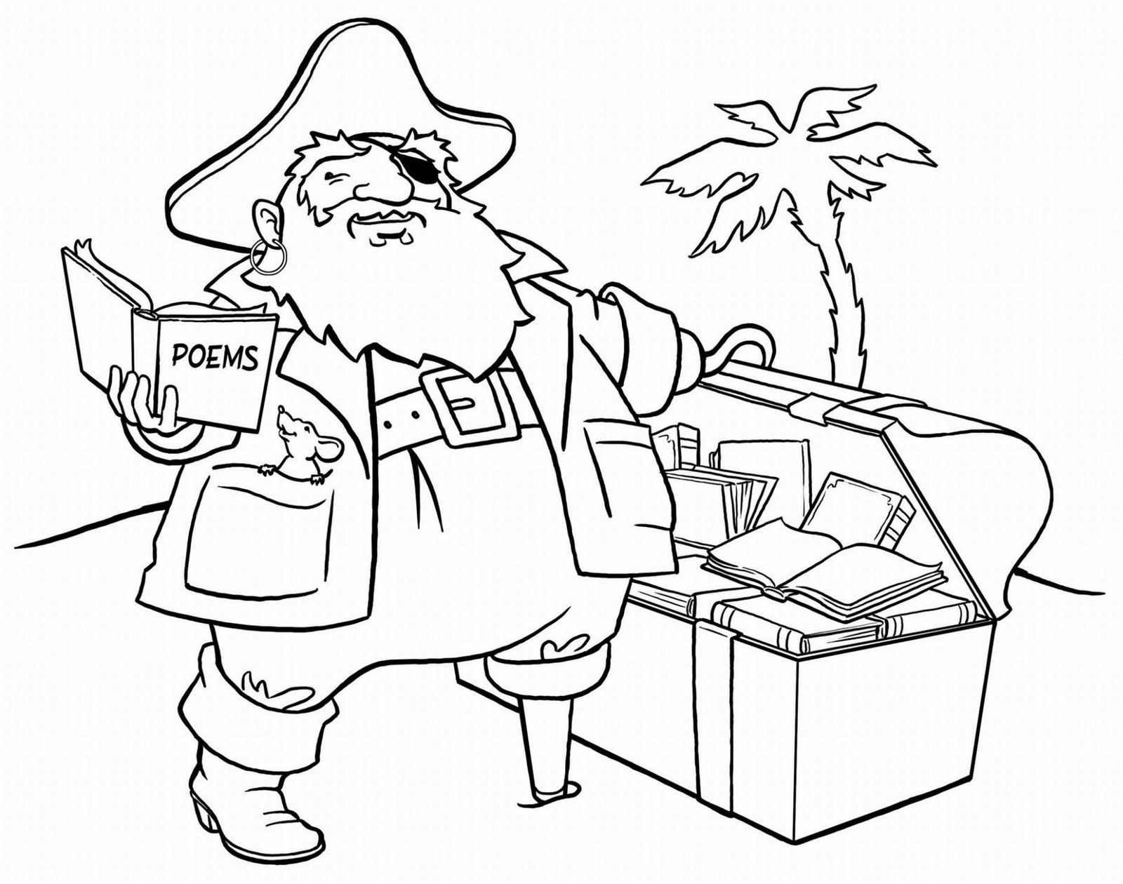 Pirate treasure coloring pages - photo#45